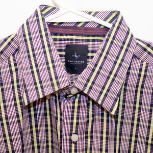 TailorByrd Men's Plaid Dress Shirt